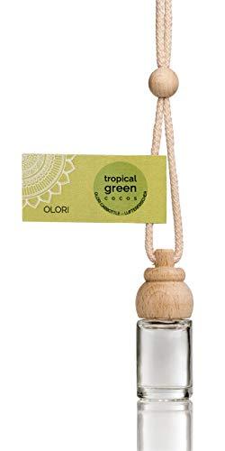 Olori Auto Duft - Cocos - Tropical Green - 4 x Duftspender für Auto und Wohnung - Auto Lufterfrischer