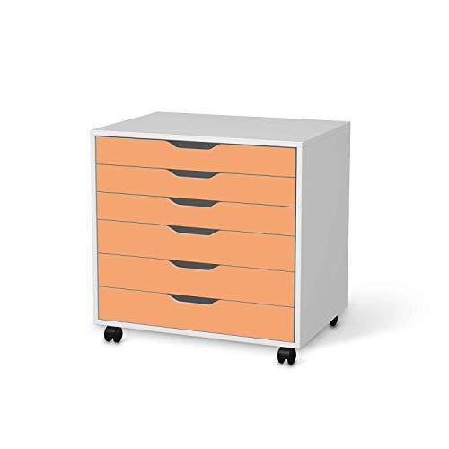 creatisto Möbeltattoo passend für IKEA Alex Rollcontainer 6 Schubladen I Möbelaufkleber - Möbel-Folie Tattoo Sticker I Wohn Deko Ideen für Esszimmer, Wohnzimmer - Design: Orange Light
