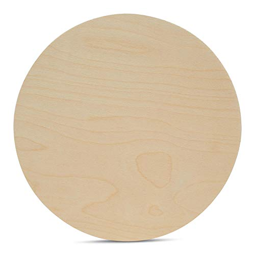 Wood Plywood Circles 22 inch, 1/4 Inch Thick, Round Wood Cutouts, Pack of 1 Baltic Birch Unfinished Wood Plywood Circles for Crafts, by Woodpeckers