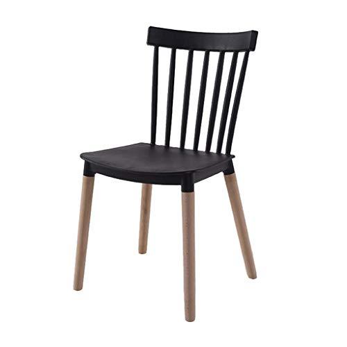 ZHAOJYZ Household Necessities/Dining Chair Lounge Chair modern minimalistisch huis van kunststof grijs zwart rugleuning stoel bijzondere stijl exquise behandeling restaurant stoel