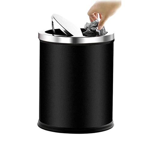 SDHKE Poubelle en Plastique Peut Poubelle Gallon avec Couvercle supérieur de Presse, Corbeille à Papier Moderne Noire for Salle de Bains, Salon, Bureau (Color : A)
