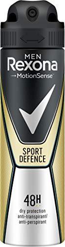 Rexona Men Anti-Transpirant Deospray gegen Körpergeruch und Achselnässe Sport Defence 48-Stunden-Schutz (6 x 150 ml)
