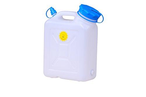 hünersdorff Weithalskanister / Abklärkanister / Mehrzweckkanister mit großer Öffnung zur einfachen Innenreinigung, 10 Liter, UV-Schutz, Made in Germany
