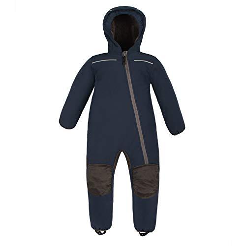 anndora Schneeoverall für Kinder Softshell Gr. 80 Winddicht Wasserfest Atmungsaktiv - Marine Blau