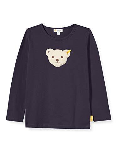 Steiff Jungen T-Shirt Langarm Langarmshirt, Blau, 104 (Herstellergröße:080)