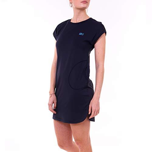 Sportkind Robe de tennis, hockey, coupe ample et respirante, protection UV UPF 50+. - Bleu - XXXL