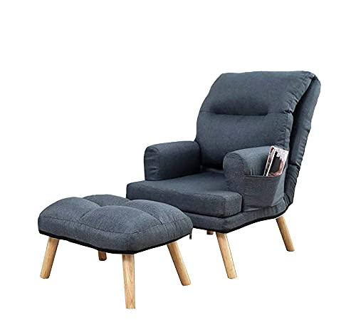 Selly Home Sessel mit Ergonomischer Hocker - Relaxsessel Angenehmes Stoff mit Liegefunktion - Entspannung Ohrensessel mit Hocker - Fernsehsessel mit...