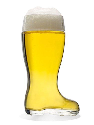 Stölzle-Oberglas 9735808047 Munich Bierstiefel, Bierglas, 1.25 Liter, mit Füllstrich bei 1l, Glas, transparent, 1 Stück