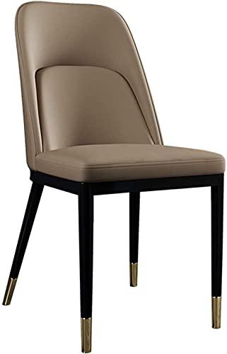 Sillas - silla de comedor, asiento tapizado estilo nórdico moderno, patas de metal, sala de reuniones de oficina silla de...