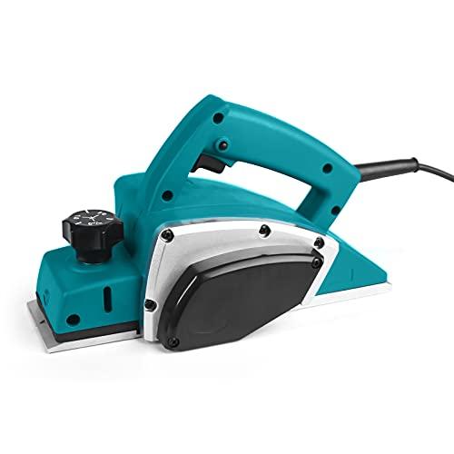 JISHANE 電気カンナ 刃幅82mm 切削深さ2mm 1200w 電気かんな 電動工具 DIY木材の平削り/面取り/相ジャクリ