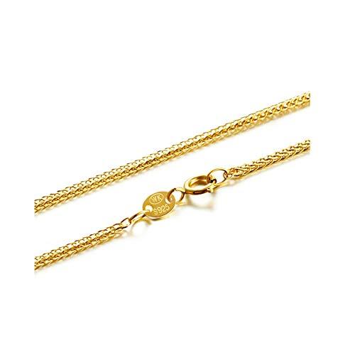 Aeici Collar Colgante Largo Cadena Trigo Collares para Mujer Oro Rosa Largo 45 Cm