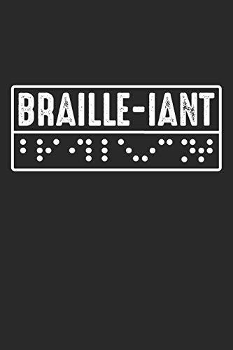 Braille-iant: Blindenschrift Alphabet  Notizbuch liniert DIN A5 - 120 Seiten für Notizen, Zeichnungen, Formeln | Organizer Schreibheft Planer Tagebuch