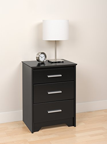 Black Coal Harbor 3 Drawer Tall Nightstand
