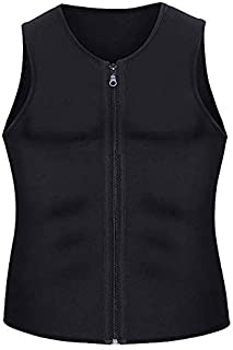 Men Waist Trainer Vest for Weightloss Hot Neoprene Corset Body Shaper Zipper Sauna Tank Top Workout Shirt S