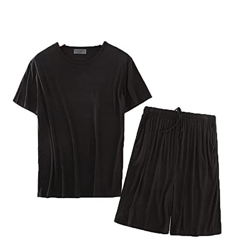 Conjunto De Camiseta De Pijama De Primavera Y OtoñO para Hombre, Pantalones Cortos De Manga Corta, Ropa para El Hogar, Pijamas De Ropa Deportiva Informal, Delgados