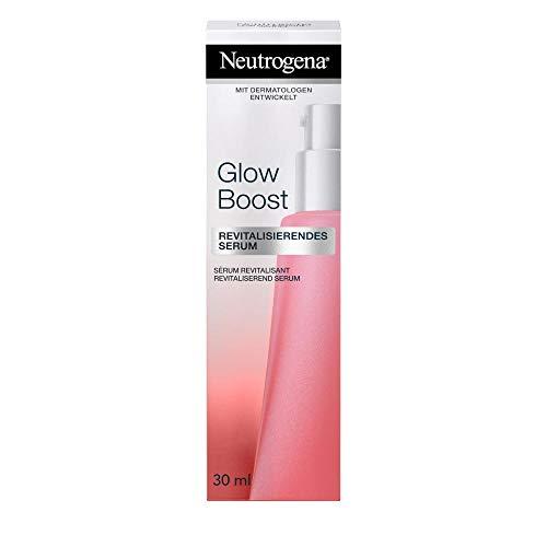 Neutrogena Glow Boost Revitalisierendes Serum, pflegendes Gesichtsserum mit Neoglucosamine, für eine ebenmäßig strahlende Haut (1 x 30 ml)