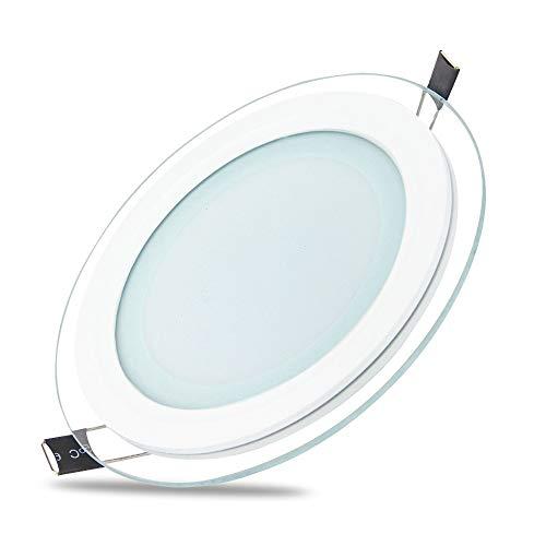 18W LED Panel Glas Abdeckung Warmweiß 1300 lm Einbaustrahler Spot Einbauleuchte Deckenleuchte Rund