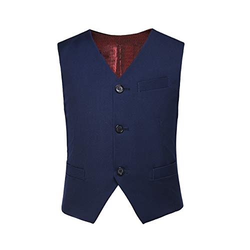 Lycody Kids Formal Vest Navy Blue Boys Suit Vest for Toddler Boys Size 3