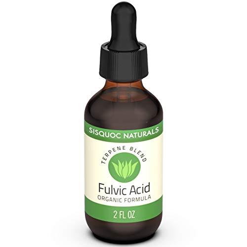 Sisquoc Naturals Ácido FULVIC – minerales de alta calidad y traza puro, aumenta la energía, potencia el sistema inmunológico, alivia el dolor y ayuda a la digestión, mezcla de terpeno orgánico (2 onzas líquidas)