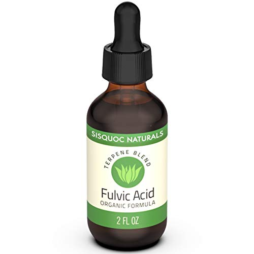 Sisquoc Naturals FULVIC Acid - High Quality & Pure Trace Minerals, Increases Energy, Boost Immune System, Relieves Pain & Helps Digestion, Organic Terpene Blend (2 Fluid Ounces)