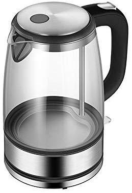 Mnjin Tragbare Wasserkocher Glas Wasserkocher Wasserkocher Edelstahl Home Led Licht Teekanne 1.7l 220 v Temperaturregelung Anti-Dry Wasserkocher