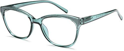 NEWVISION®, Blaulicht Brille Blaulichtfilter Lesebrille, Federbrillenrahmen, Rahmen Katzenauge, Presbyopia-Lesebrille für Frauen,TV,Blaulichtfilter Computerbrille, NV1157(+3.00 Tiffany)