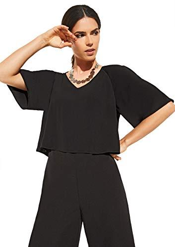 comma Damen Eleganter Jumspuit im Poncho-Style Black 34