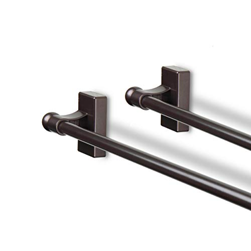 Rod Desyne 7/16' Magnetic Rod, 28-48 inch (Set of 2), Cocoa