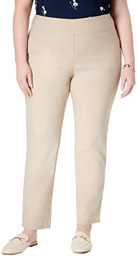 Charter Club Womens Tummy Slimming Colored Slim Fit Cropped Pants Plus BHFO 8837