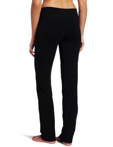 Danskin Women's Sleek Fit Yoga Pant, Black, Medium