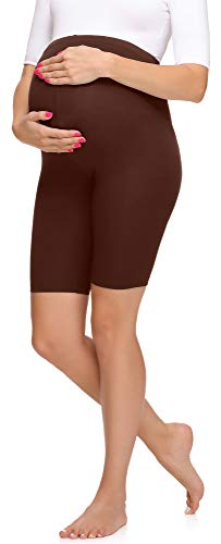 Merry Style Leggins Premamá Pantalones Cortos Mujer MS10-299 (Marrón, XXL)