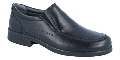 LUISETTI 26850 Negro - Zapato mocasín Piel Profesional Fabricado en España (43 EU, Negro)