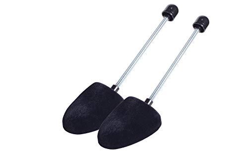 Kaps Hochwertiger Schuhspanner mit Spiralfeder aus Samt-Velour Schaumstoff, Ovale Form für Ballerinas und Pumps, Hohe Feuchtigkeitsaufnahme und -kontrolle (schwarz)