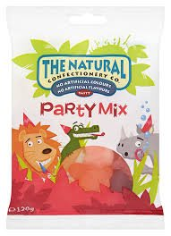 The Natural Confectionery Co Party Mix - Bolsa colgante (130 g, 10 unidades)