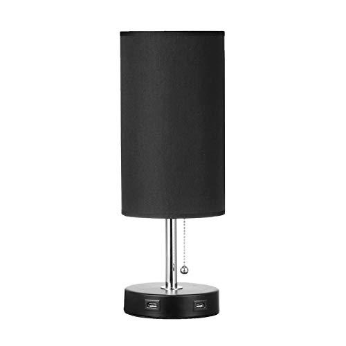 GAGP Lámpara De Mesa FlexibleLámparas De Mesa De Noche con 2 Puertos USB Lámpara De Mesa De Noche Moderna para Acampar En El Dormitorio De Ni?os