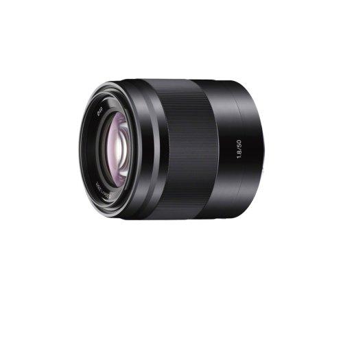 Sony SEL-50F18 Porträt-Objektiv (Festbrennweite, 50 mm, F1.8, APS-C, geeignet für A6000, A5100, A5000 und Nex Serien, E-Mount) schwarz