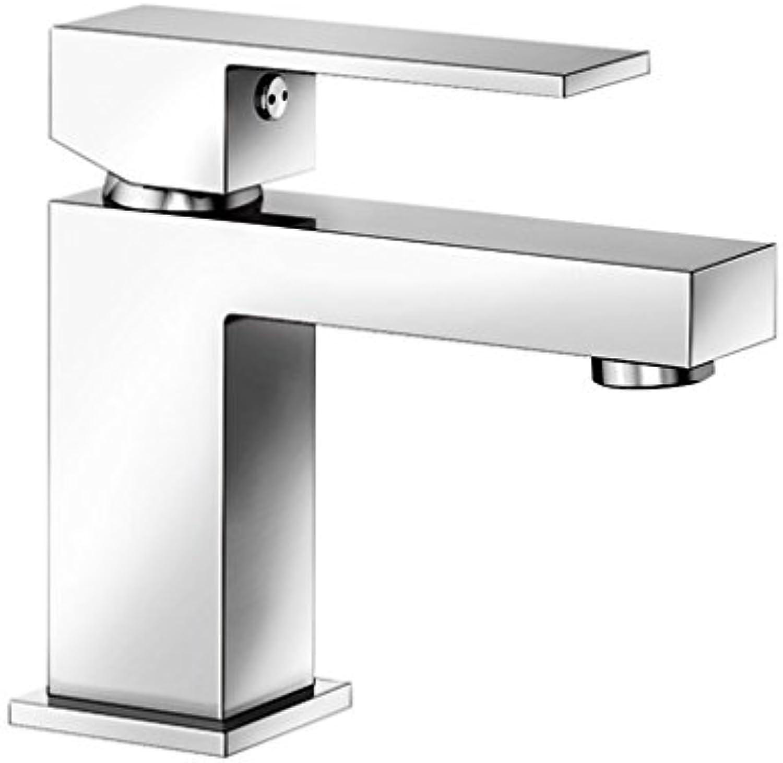 Weiß ARON-WT, Waschtischarmatur, Einhebelmischer für Badezimmer, Armatur für Bad-Waschbecken, Oberflche chrom - - mit Ablaufgarnitur