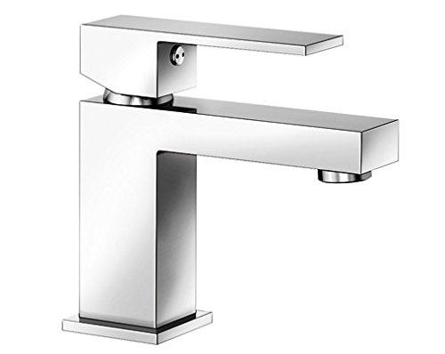Blanco ARON-WT, Waschtischarmatur, Einhebelmischer für Badezimmer, Armatur für Bad-Waschbecken, Oberfläche chrom - - mit Ablaufgarnitur