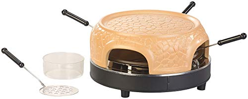 Cucina di Modena Mini Pizza Stein Ofen: Pizzaofen mit echter Terrakotta-Haube für 4 Personen (Pizza Steinofen)