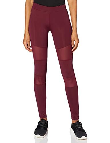 Urban s Damen Ladies Tech Mesh Skinny Leggings, Rot (Port 01157), S