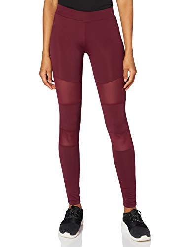 Urban s Damen Ladies Tech Mesh Skinny Leggings, Rot (Port 01157), L