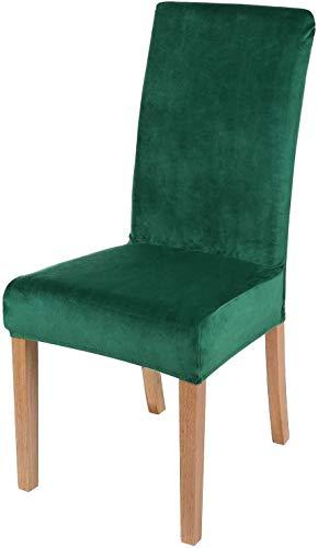 FDQNDXF Stuhlschonbezüge Samtstretch Esszimmerstuhl Schonbezüge - Spandex Plüsch Kurze Stuhlbezüge, Waschbarer Abnehmbarer Stuhl Schonbezug Esszimmerstuhl Schutzhülle, für Küche, Esszimmer