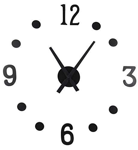 Spetebo DIY Wanduhr 13-teilig - XXL Uhr zum selber gestalten - Wandtattoo Wohnzimmer Uhr