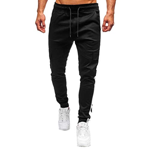 Pantalones Largos Cargo para Hombre, Múltiples Bolsillos,Laborales,Casuales,Recto,Suelto Pantalones Cargo de Trabajo para...