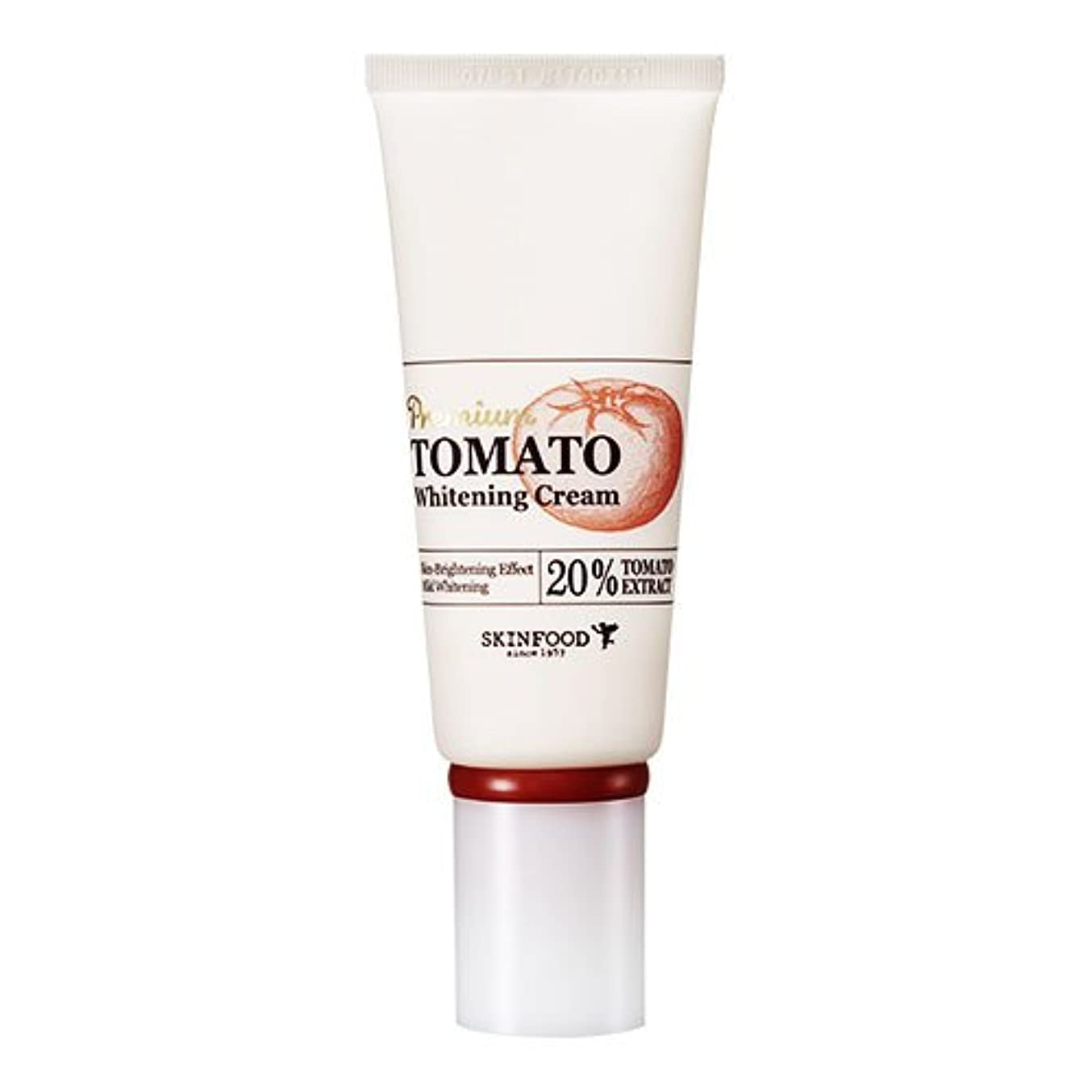 支給リア王宿Skinfood プレミアムトマトホワイトニングクリーム(美白効果) / Premium Tomato Whitening Cream (Skin-Brightening Effect) 50g [並行輸入品]