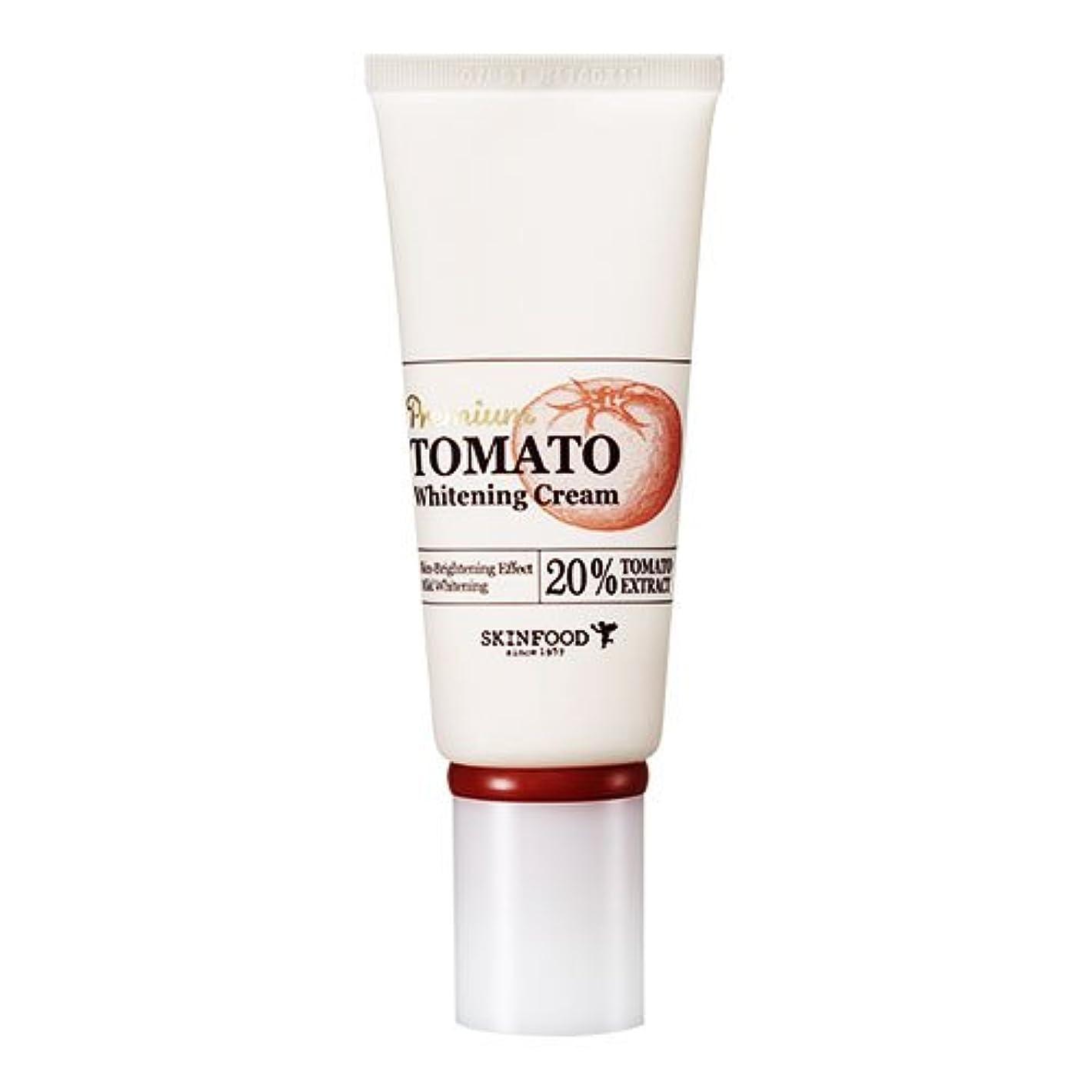 柔らかさミニ応用Skinfood プレミアムトマトホワイトニングクリーム(美白効果) / Premium Tomato Whitening Cream (Skin-Brightening Effect) 50g [並行輸入品]