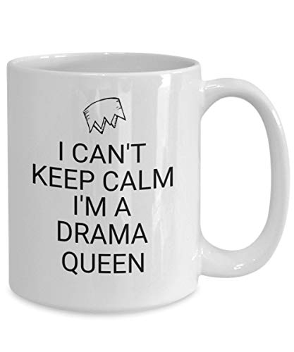 DKISEE Taza de Broadway, regalo de actriz, regalo de actriz, regalo de teatro, regalo de teatro, regalo de drama reina, artista escénico, artista escénico, I Can't Keep Calm