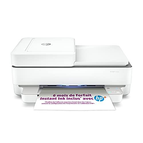 HP DeskJet 6420e Stampante Multifunzione, Bluetooth,36.11 x 43.25 x 17.4cm, Bianco