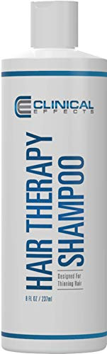 Clinical Effects: Hair Therapy Shampoo – Hair Growth Shampoo –All Natural, DHT Blocking Ingredients with Biotin, AnaGain and Baicapil - Hair Care and Hair Loss Solution (8 oz)