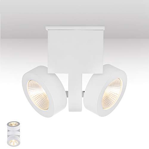 TREND Led-wandlamp, dimbare spotlamp met dimbaar spoor, zwart licht, instelbaar voor woonkamer, trappenhuis, halen, kantoor en reclame